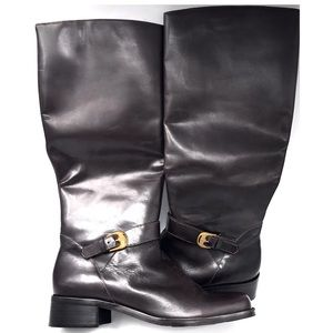 Etienne Aigner Legacy 2 Chocolate Brown Boots 8M